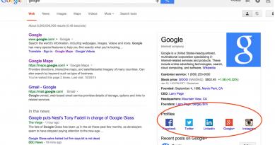 Spécifiez vos profils sociaux à Google