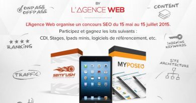 Lancement du concours SEO de L'Agence Web