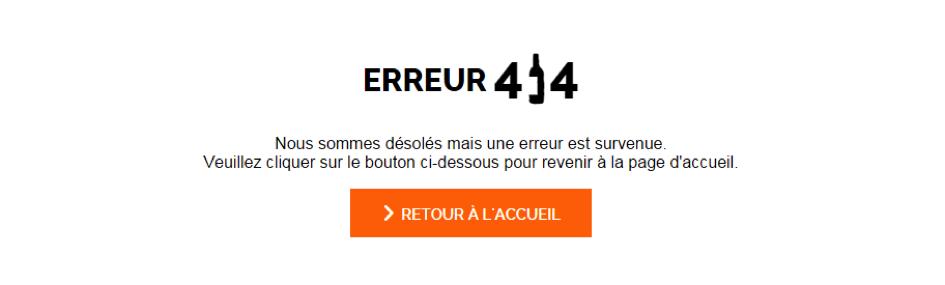 erreur 404 redirection migration