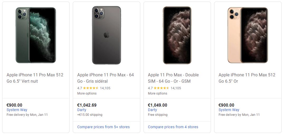 iphone google shopping