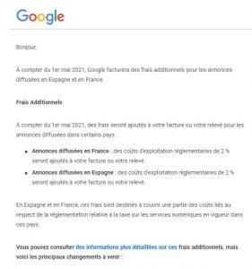 Taxe Google